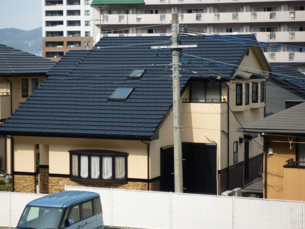 八幡東区N邸、屋根:壁 塗装工事