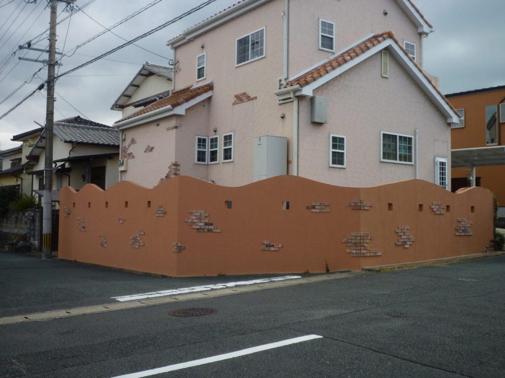 外塀塗装【ジョリパット施工:補修工事含む】