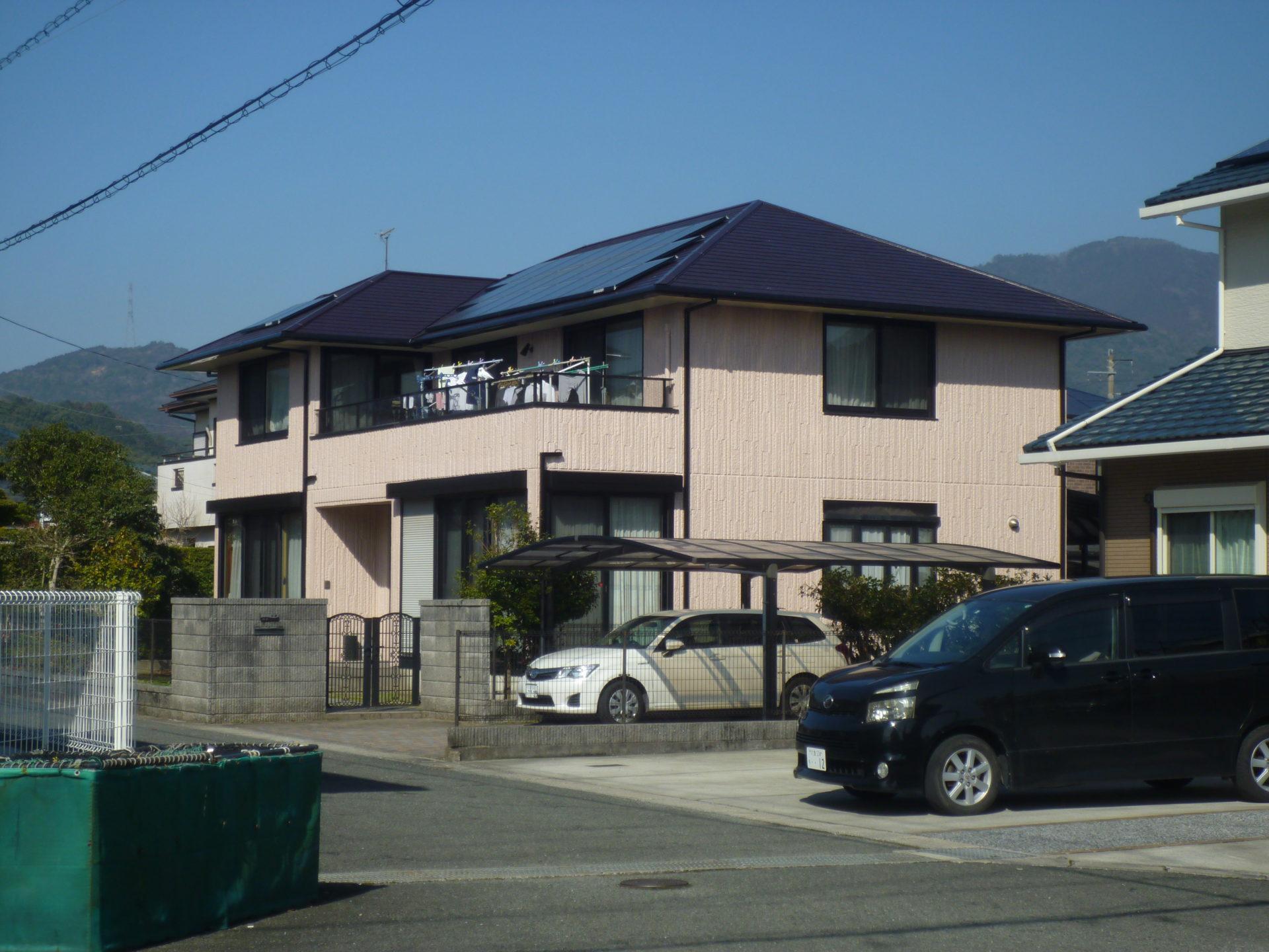 飯塚市IZ邸施工【屋根塗装:外壁塗装(補修工事)