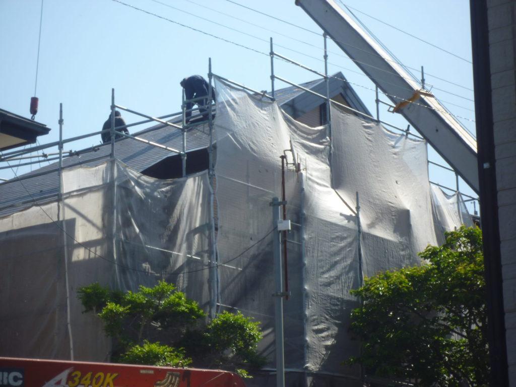 外壁塗装:屋根葺き替え工事(コロニアル⇒陶器瓦)施工事例紹介
