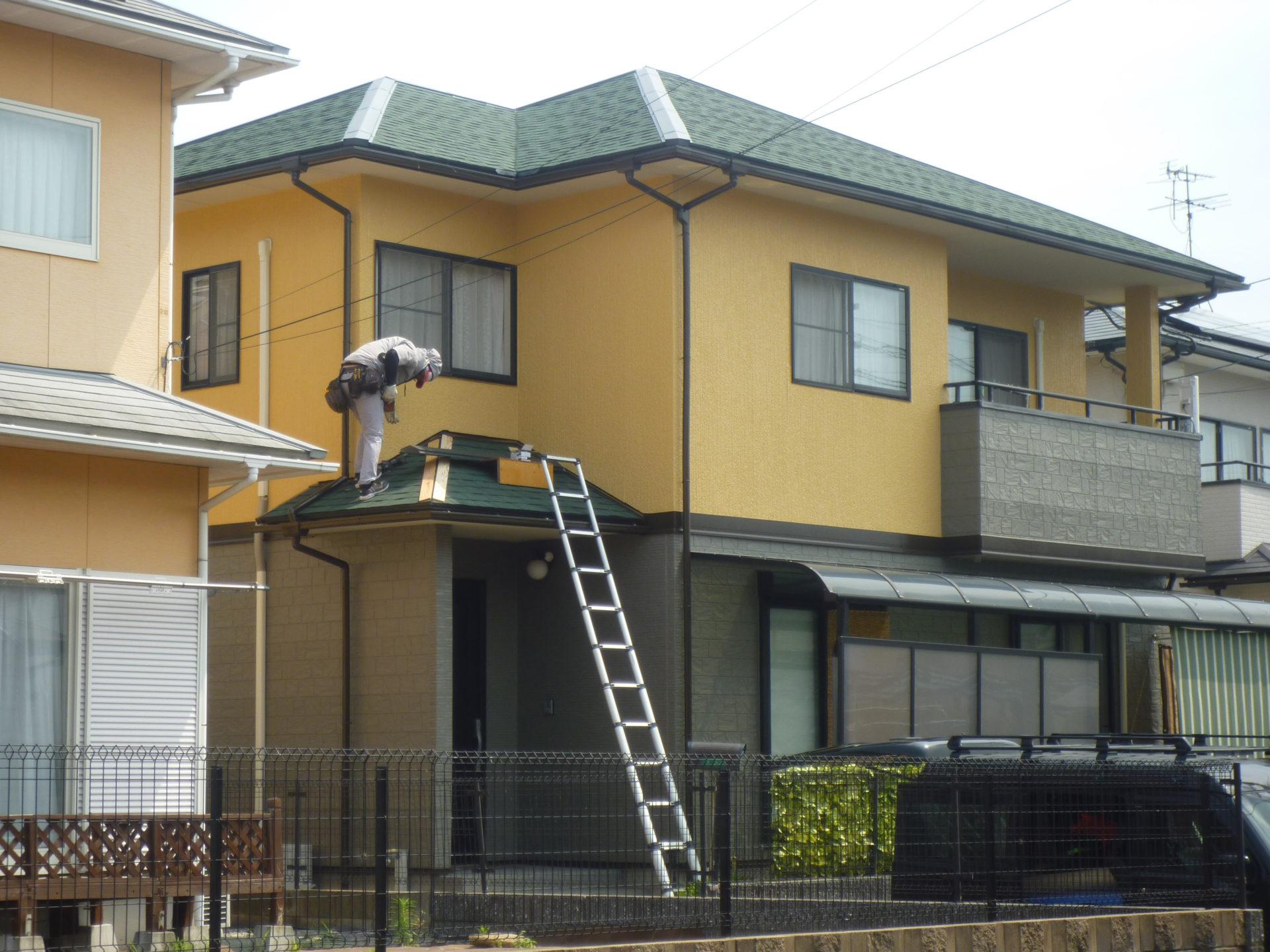 水巻町KY様邸 外壁塗装:屋根工事