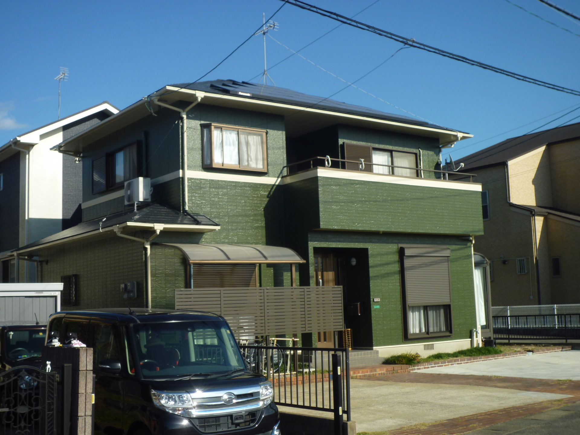 遠賀郡水巻町 IT様邸 外壁塗装:屋根塗装